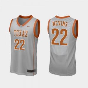 Men's Replica Longhorns Basketball #22 Blake Nevins college Jersey - Gray