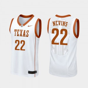 Men Replica Basketball #22 Texas Longhorns Blake Nevins college Jersey - White