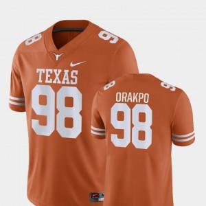 Men's #98 Game Football University of Texas Brian Orakpo college Jersey - Orange