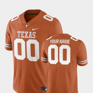Men #00 college Customized Jersey - Texas Orange Football 2018 Game University of Texas