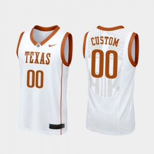 Men Basketball University of Texas Replica #00 college Custom Jersey - White