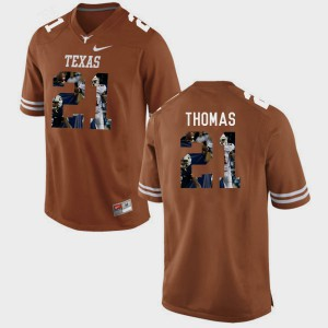 Men's Pictorial Fashion University of Texas #21 Duke Thomas college Jersey - Brunt Orange