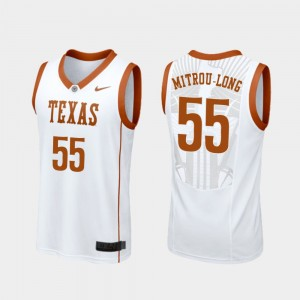 Men #55 Replica Basketball UT Elijah Mitrou-Long college Jersey - White