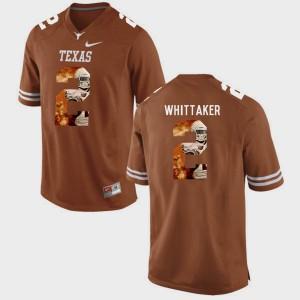 Men Longhorns #2 Pictorial Fashion Fozzy Whittaker college Jersey - Brunt Orange