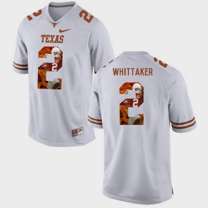 Men Pictorial Fashion Longhorns #2 Fozzy Whittaker college Jersey - White