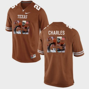 Men Pictorial Fashion #25 Texas Longhorns Jamaal Charles college Jersey - Brunt Orange