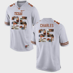 Men Pictorial Fashion #25 Texas Longhorns Jamaal Charles college Jersey - White