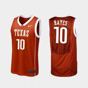 Men's #10 Basketball UT Replica Jaxson Hayes college Jersey - Burnt Orange