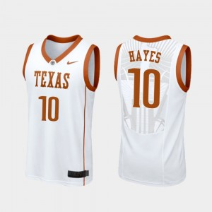 Men Basketball Replica #10 Texas Longhorns Jaxson Hayes college Jersey - White