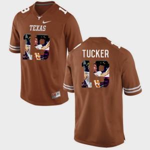 Men's Pictorial Fashion Texas Longhorns #19 Justin Tucker college Jersey - Brunt Orange