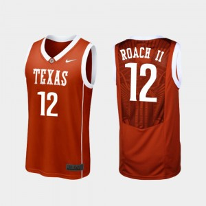 Men #12 Kerwin Roach II college Jersey - Burnt Orange Replica Basketball UT