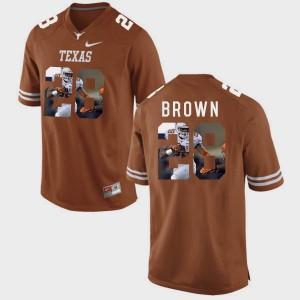 Men #28 Pictorial Fashion Texas Longhorns Malcolm Brown college Jersey - Brunt Orange