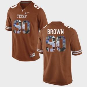 Mens University of Texas #90 Pictorial Fashion Malcom Brown college Jersey - Brunt Orange