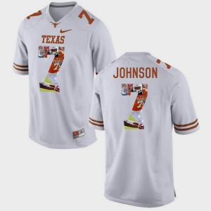 Men Pictorial Fashion #7 University of Texas Marcus Johnson college Jersey - White