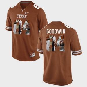 Men's #84 Texas Longhorns Pictorial Fashion Marquise Goodwin college Jersey - Brunt Orange