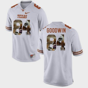 Men Pictorial Fashion Longhorns #84 Marquise Goodwin college Jersey - White