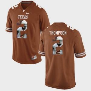 Mens #2 Texas Longhorns Pictorial Fashion Mykkele Thompson college Jersey - Brunt Orange