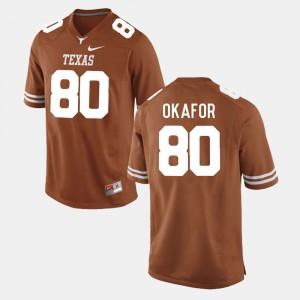 Men #80 Football UT Alex Okafor college Jersey - Burnt Orange