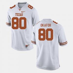Men #80 Football UT Alex Okafor college Jersey - White