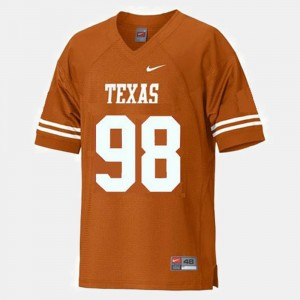 Youth(Kids) Texas Longhorns Football #98 Brian Orakpo college Jersey - Orange