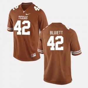 Men's #42 Football Texas Longhorns Caleb Bluiett college Jersey - Burnt Orange