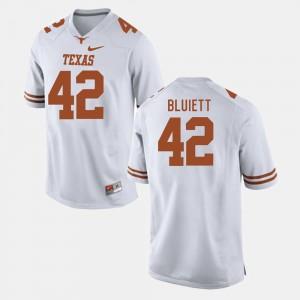 Mens Football #42 UT Caleb Bluiett college Jersey - White