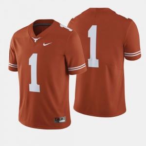 Men's #1 UT Football college Jersey - Orange