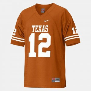 Mens Longhorns #12 Football Colt McCoy college Jersey - Orange