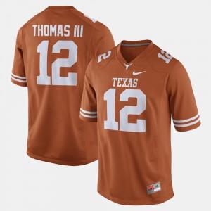 Men's Alumni Football Game #12 UT Earl Thomas college Jersey - Orange