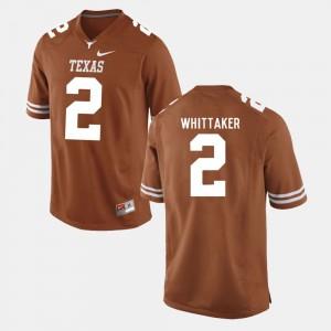 Men's Longhorns #2 Football Fozzy Whittaker college Jersey - Burnt Orange