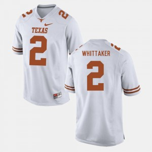 Men Texas Longhorns Football #2 Fozzy Whittaker college Jersey - White