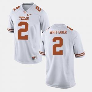 Men Texas Longhorns Football #2 Fozzy Whittaker college Jersey - White