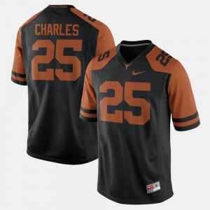Mens #25 Jamaal Charles college Jersey - Black Alumni Football Game UT