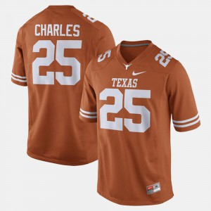Men's Texas Longhorns Alumni Football Game #25 Jamaal Charles college Jersey - Orange