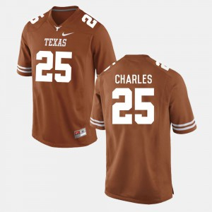 Men's UT Football #25 Jamaal Charles college Jersey - Burnt Orange