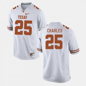Men's Texas Longhorns #25 Football Jamaal Charles college Jersey - White
