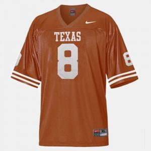 Men's University of Texas #8 Football Jordan Shipley college Jersey - Orange