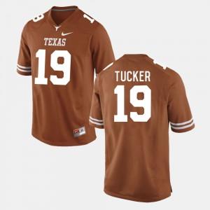 Men's UT Football #19 Justin Tucker college Jersey - Burnt Orange