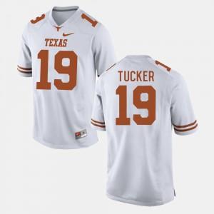 Men's Football UT #19 Justin Tucker college Jersey - White