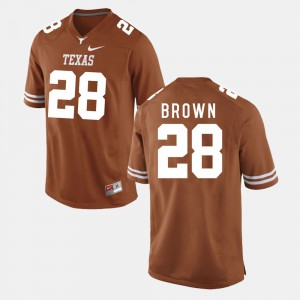 Men's Football #28 Longhorns Malcolm Brown college Jersey - Burnt Orange