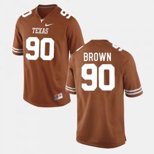 Men's Longhorns Football #90 Malcom Brown college Jersey - Burnt Orange