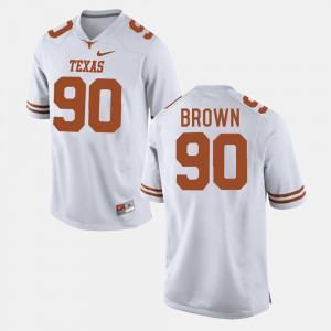 Men #90 Football Longhorns Malcom Brown college Jersey - White