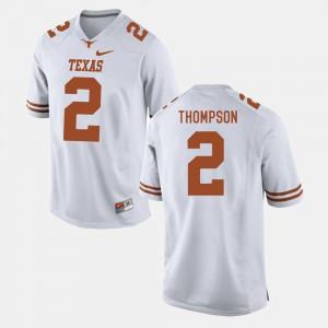 Men Football UT #2 Mykkele Thompson college Jersey - White