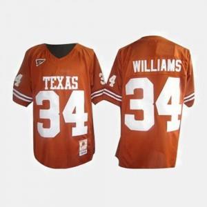 Men's Football University of Texas #34 Ricky Williams college Jersey - Orange