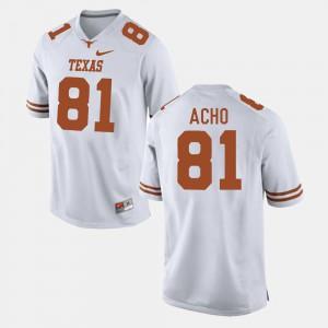 Men Football #81 Texas Longhorns Sam Acho college Jersey - White