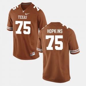 Men's Football Longhorns #75 Trey Hopkins college Jersey - Burnt Orange