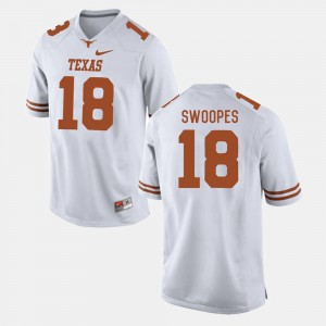 Mens Football #18 UT Tyrone Swoopes college Jersey - White
