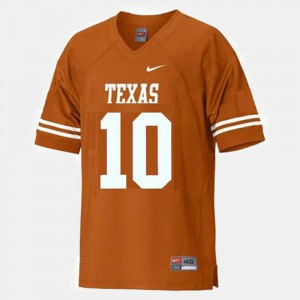 Men Longhorns Football #10 Vince Young college Jersey - Orange