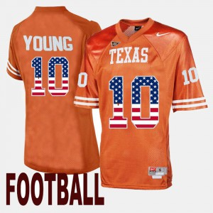 Men's Throwback #10 Texas Longhorns Vince Young college Jersey - Orange