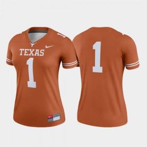 Womens #1 Football UT Legend college Jersey - Texas Orange